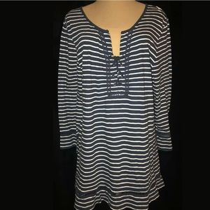 Women's Blouse Style & Co. Nautical Knit Top